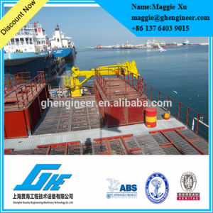 40t Pedestal Jib Offshore Telescopic Boom Crane pictures & photos
