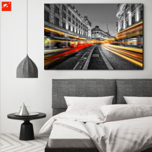 Big City View Oil Painting with Frame pictures & photos