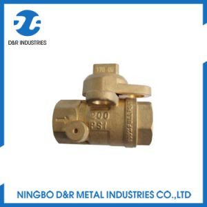 Lockable Brass Ball Valve Good Quality pictures & photos
