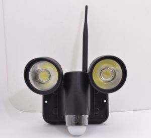 New Waterproof WiFi LED Light PIR Camera / Wireless Video Surveillance Zr720 pictures & photos