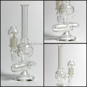 Clear Thick Made of Glass Water Pipe for Smoking Small Oil Rig Glass in Stock pictures & photos