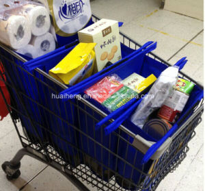 UK Hot Sale Colorful 4PCS Supermarket Shopping Trolley Bag pictures & photos
