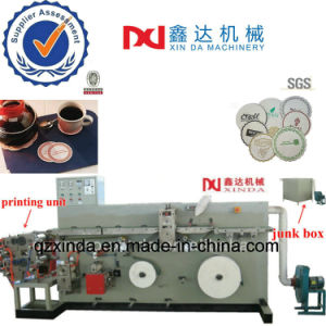 Automatic Counting Tissue Cup Tray Embossed Printing Paper Coaster Equip Machine pictures & photos