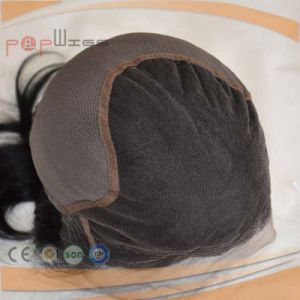 High Selling Full Lace Base Dark Color PU Women Wig pictures & photos
