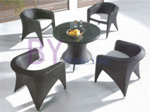 Wide Arm Chairs Living Room Balcony PE Rattan Furniture pictures & photos