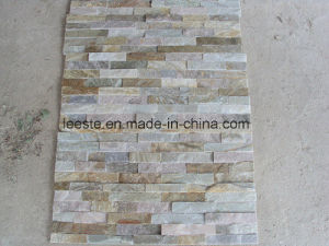 High Quality 100% Natural Rusty Yellow Slate Culture Stone pictures & photos