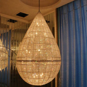 Water Drop Shape Hotel Luxury K9 Crystal Pendant Lamp pictures & photos
