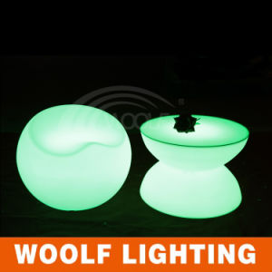 LED Illuminated Modern Plastic Outdoor Furniture pictures & photos