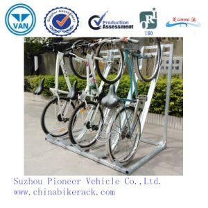 Outdoor or Indoor Hot Galvinanzed Semi-Vertical Bike Rack pictures & photos