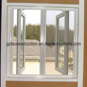 White Color PVC Casement Window with Double Glazing (TS-172) pictures & photos