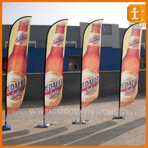 Polyester Teardrop Flag with Spike or Base (TJ-14) pictures & photos