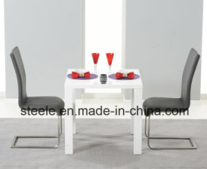 MDF with High Gloss Dining Set White Dining Table with Dining Chair