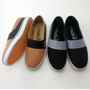 Latest Men′s Slip on Injection Canvas Shoes Casual Shoes (PY16-03-7) pictures & photos