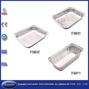 Eco-Friendly Disposable Aluminum Foil Food Container Paper Lid pictures & photos