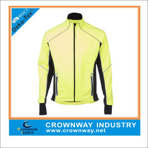 Wholesale Running Wear Long Sleeve Mens Long Sleeve Full Zip Running Jacket pictures & photos