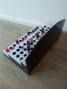 Creative Lady Lipstick Display Shelf with Logo, Acrylic Plastic Display for Cosmetics pictures & photos