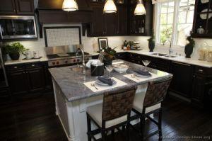 Kitchen Cabinet Dark Espresso Kitchen Cabinets (DE35) pictures & photos
