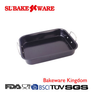 Roaster Pan W/Handle Carbon Steel Nonstick Bakeware (SL BAKEWARE)