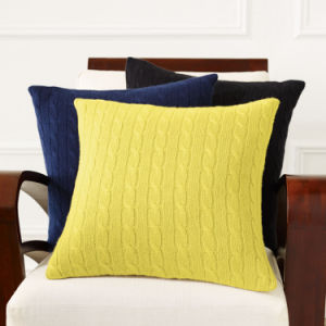 Good Quality Soft Knitted Plush Cushion Cover pictures & photos