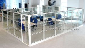 Modern Chinese Wholesale Office Cabin Used Glass Half Partition (SZ-WS561) pictures & photos