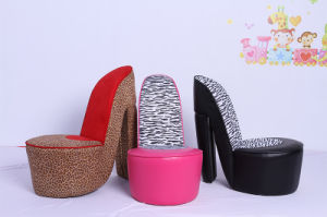 High Heel Kids Fabric Upholster Chair/Children Furniture pictures & photos