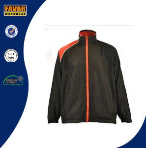 OEM New Design Waterproof Windproof Polyester Dark Blue Stripe Basket Sport Men Jacket