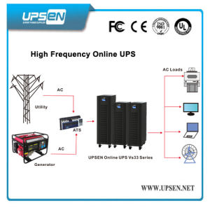 3 / 1 Phase Hf Online UPS System 10k 15k 20k 30kVA with / Without Battery Models for Choose pictures & photos