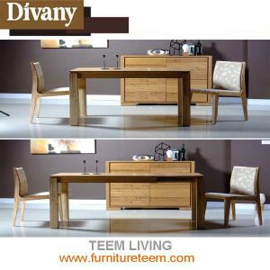 Modern Home Furniture Solid Wood Extended Dining Table pictures & photos