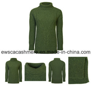 Women′s Turtle Neck Pure Cashmere Knitwear pictures & photos