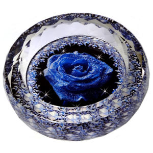 Vintage Round Cigar Ashtray with Rose Flower Crystal Glass Ashtray pictures & photos