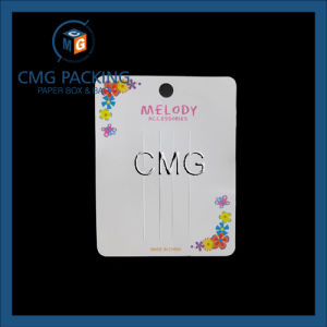 White Card Hair Clip Display Card with Colorful Logo (CMG-087) pictures & photos
