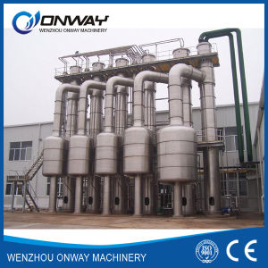 Shjo High Efficient Vacuum Juice Ketchup Processing Machine Concentrator Evaporator Fruit Juice Falling Film Evaporator Fooding Machine Concentrator pictures & photos