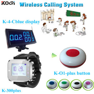 Restaurant Pager Call Bell System Monitor Watch Wrist and 1-Key Transmitter pictures & photos
