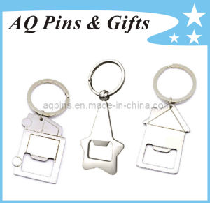 Bottle Opener Keychain in Nickel Plating pictures & photos