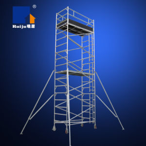 Double-Width Scaffolding with Vertical Ladder 6m pictures & photos
