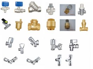 Electric Brass Ball Valve Plate Nickel for Water (a. 0197) pictures & photos