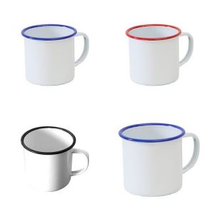 5/6/7/8/9/10/11/12mm White Enamel Tea Coffee Mug Cup Camping Picnic pictures & photos