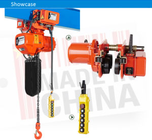 Ce Certification 0.5 Ton Electric Chain Hoist with Hook pictures & photos
