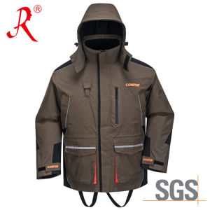 Waterproof Winter Quilted Sea Fishing Jacket (QF-9095A) pictures & photos