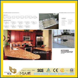 Beautiful Yellow/White Granite Stone Kitchen Tops with Cheap Prices pictures & photos