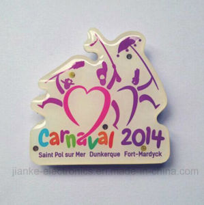 Character-Shaped LED Flash Lapel Pin with Logo Printed (3161) pictures & photos