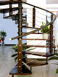 Stainless Steel Spiral Staircase with Handrail Baluster
