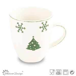 Christmas Ceramic Stamp Green Coffee Mug pictures & photos