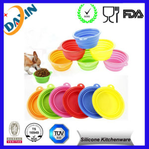 Custom with Lid Collapsible Silicone Bowl pictures & photos