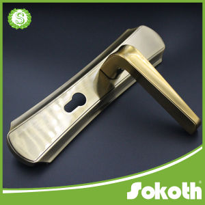 European Lever Door Handle with Plate pictures & photos