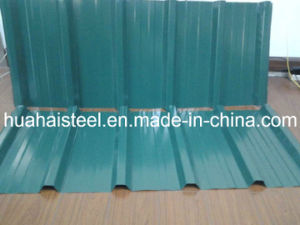 Color-Coated Corrugated Galvanised Steel Coil/Sheet (Yx10-125-875) for Building pictures & photos