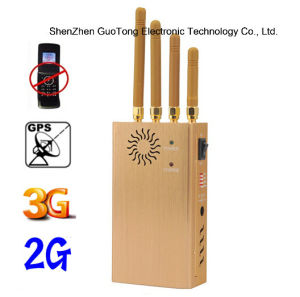 Signal Jammer 3G GPS GSM CDMA Cellphone Signal Jammer Blocker 3G GPS Jammer Built-in Battery Handheld 4 Bands Jammer