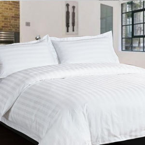 100%Cotton 3cm Stripe Economic Hotel Bed Sheet Sets pictures & photos