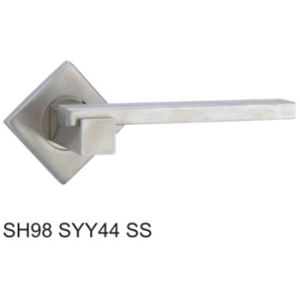 Stainless Steel Hollow Tube Lever Door Handle (SH98SYY44 SS) pictures & photos
