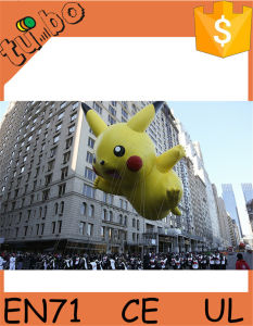 Giant Inflatable Helium Pikachu Cartoon Characters for Giant Inflatable Advertising Balloon